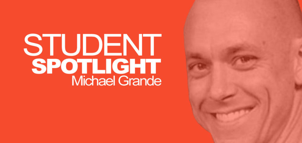 I'm speaking with Michael Grande, 5th Kyu