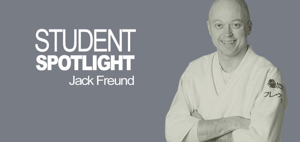 I'm speaking with Jack Freund, 2nd Kyu,